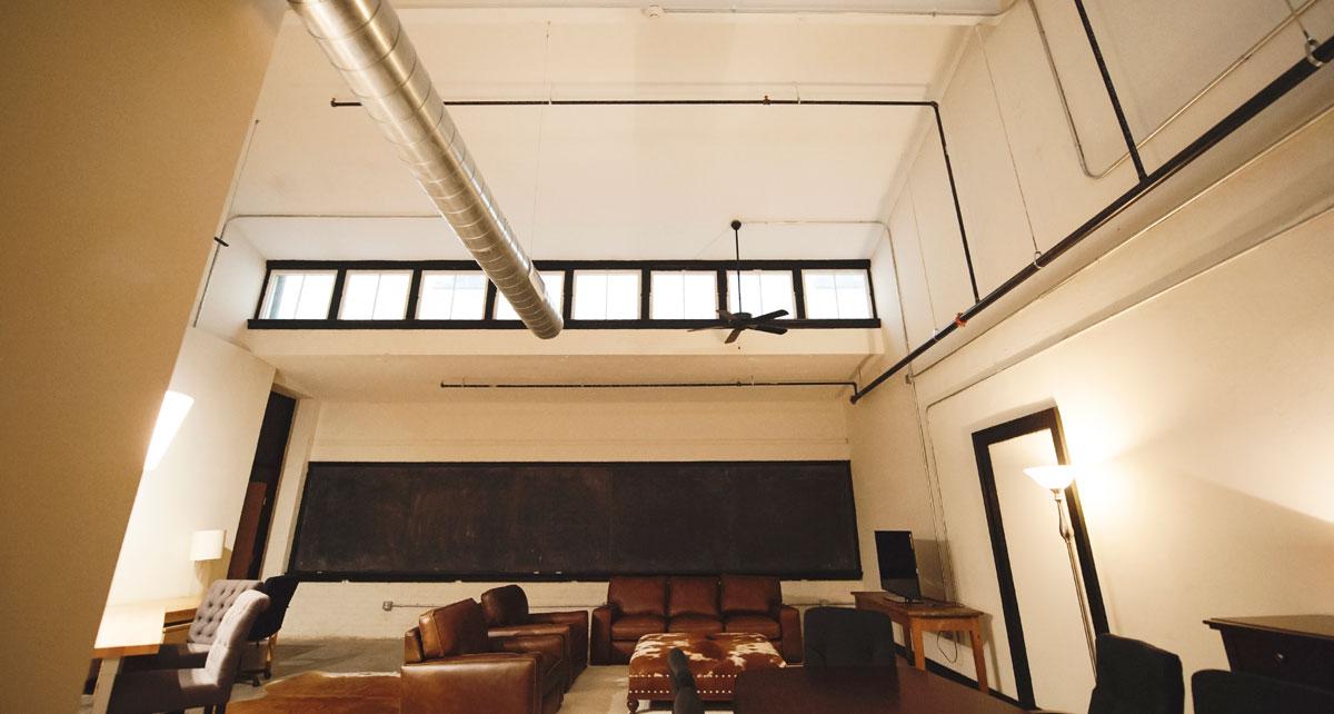 Living space of Alumni lofts