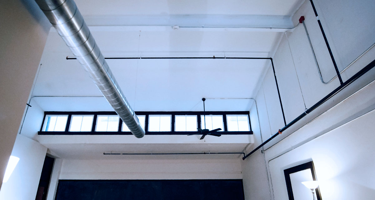 Ceiling with fire and ventilation at SCPA Alumni Lofts