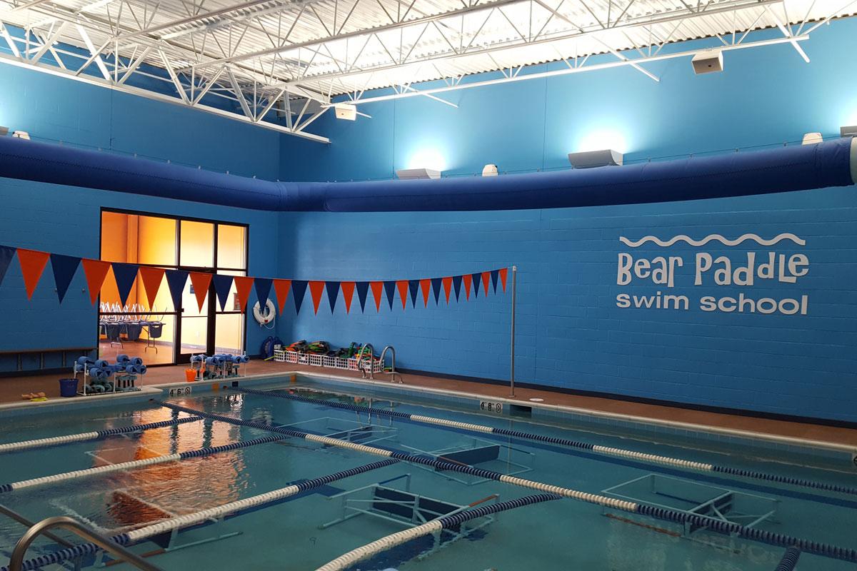 Bear Paddle Swim School indoor pool area