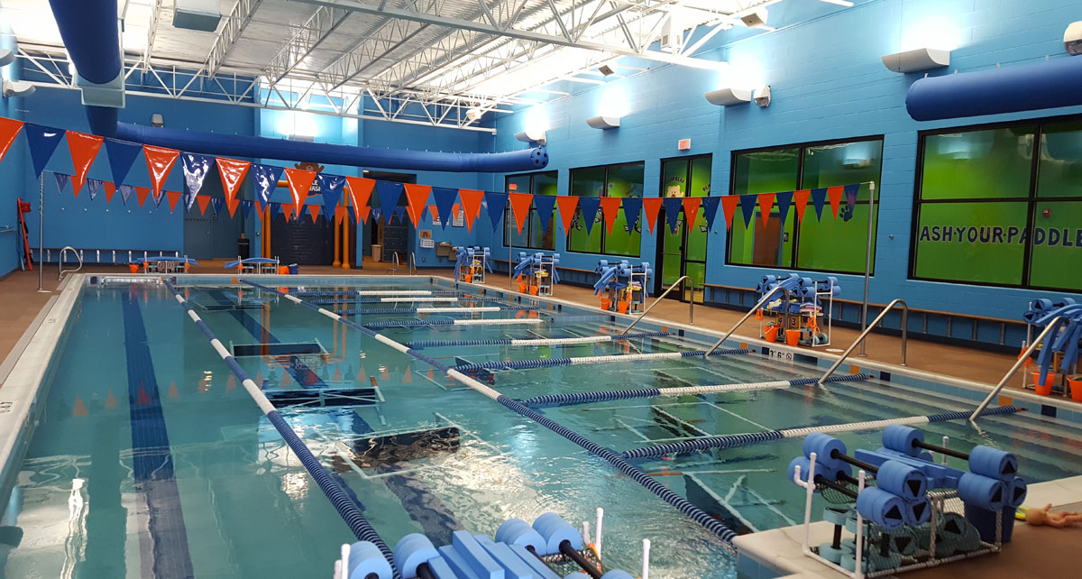 Indoor pool at Bear Paddle Swim School