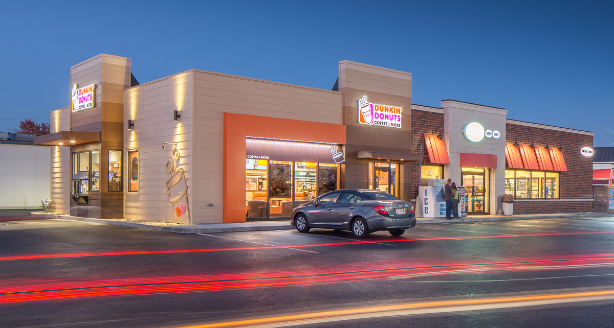 Dunkin Donuts restaurant and GoCo conveneince stores combined