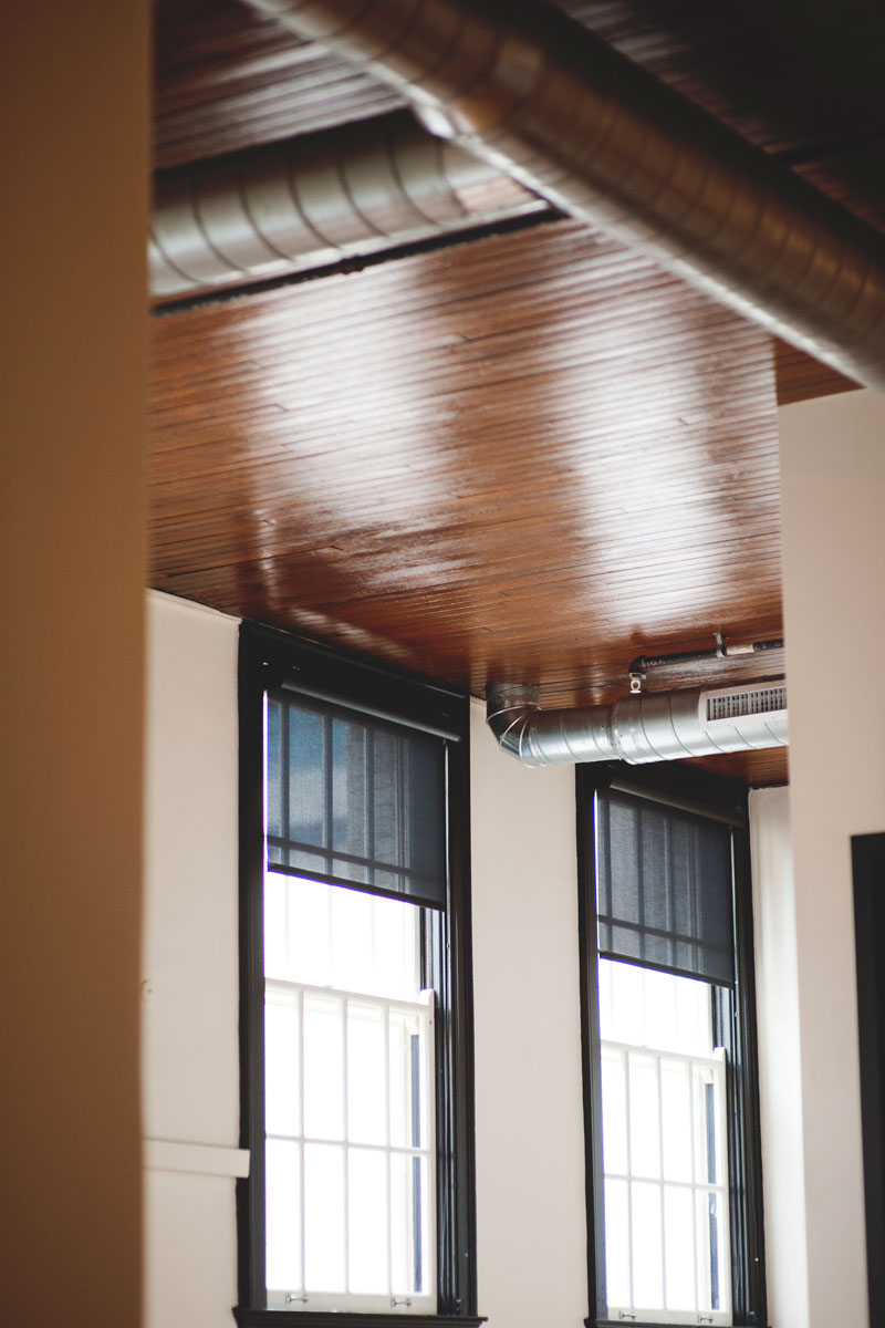 Alumni Lofts ceiling and ductwork