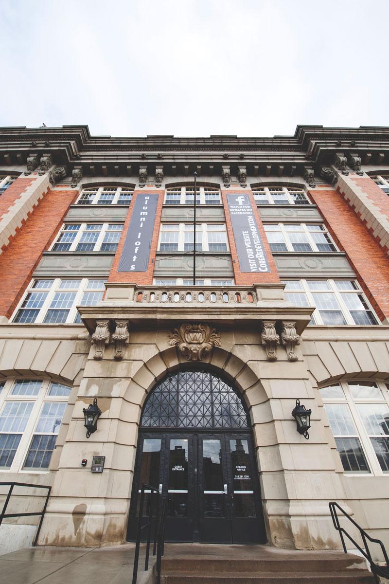 Alumni Lofts entrance