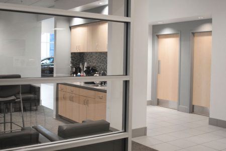 Office and guest facilities at Piles Chevrolet