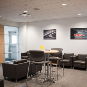 Customer waiting area at Piles Chevrolet