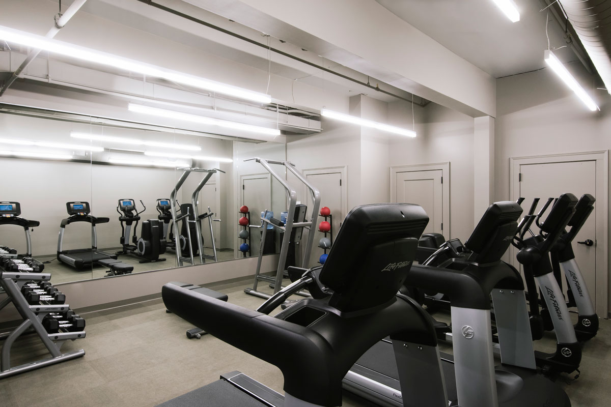 Fitness facilities at Hotel Covington