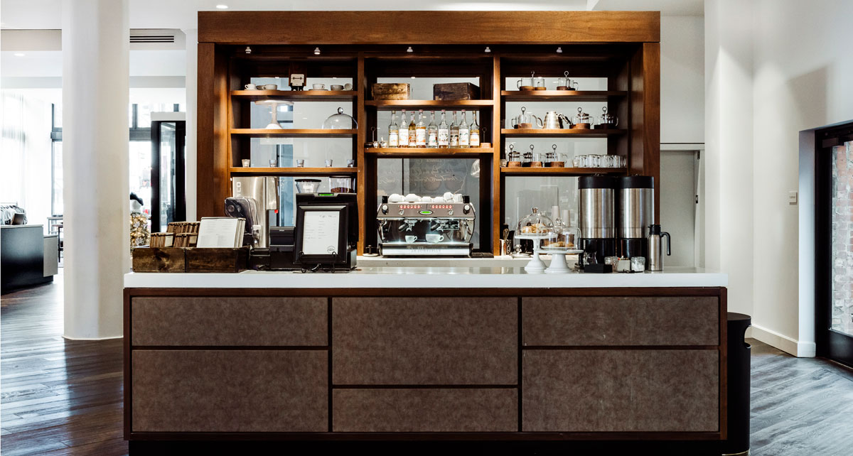 Coffee and refreshment bar at Hotel Covington