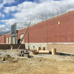 Exterior construction of Mike's Carwash